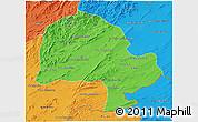 Political 3D Map of Zabol