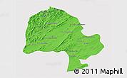 Political 3D Map of Zabol, single color outside