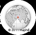 Outline Map of Zabol