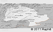 Gray Panoramic Map of Zabol