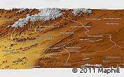 Physical Panoramic Map of Zabol