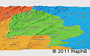 Political Panoramic Map of Zabol