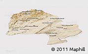 Satellite Panoramic Map of Zabol, cropped outside