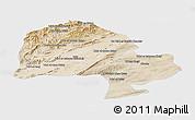 Satellite Panoramic Map of Zabol, single color outside