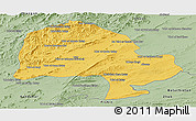 Savanna Style Panoramic Map of Zabol