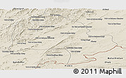 Shaded Relief Panoramic Map of Zabol