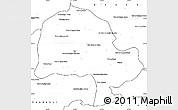 Blank Simple Map of Zabol