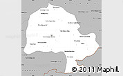 Gray Simple Map of Zabol