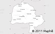 Silver Style Simple Map of Zabol, cropped outside