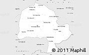 Silver Style Simple Map of Zabol