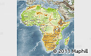 Physical 3D Map of Africa, semi-desaturated