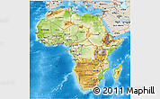 Physical 3D Map of Africa, shaded relief outside