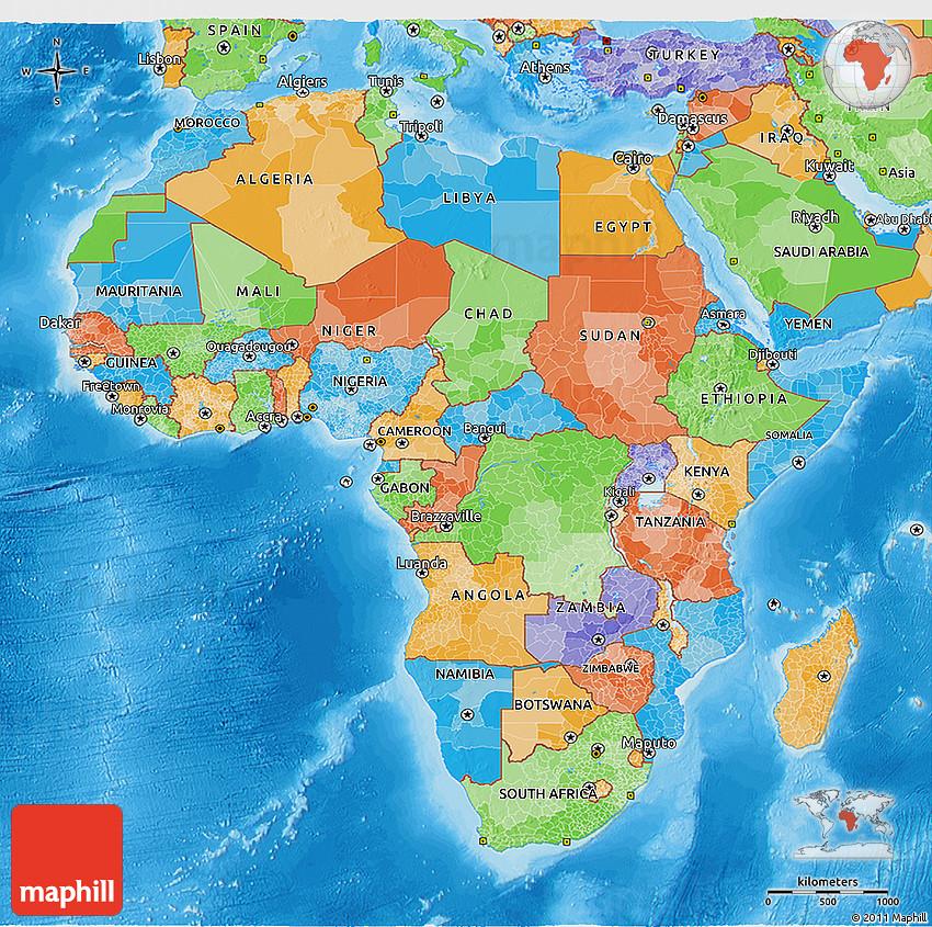 Political 3d map of africa 2d 164 3d 164 gumiabroncs Choice Image
