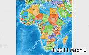 Political 3D Map of Africa