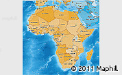 Political Shades 3D Map of Africa