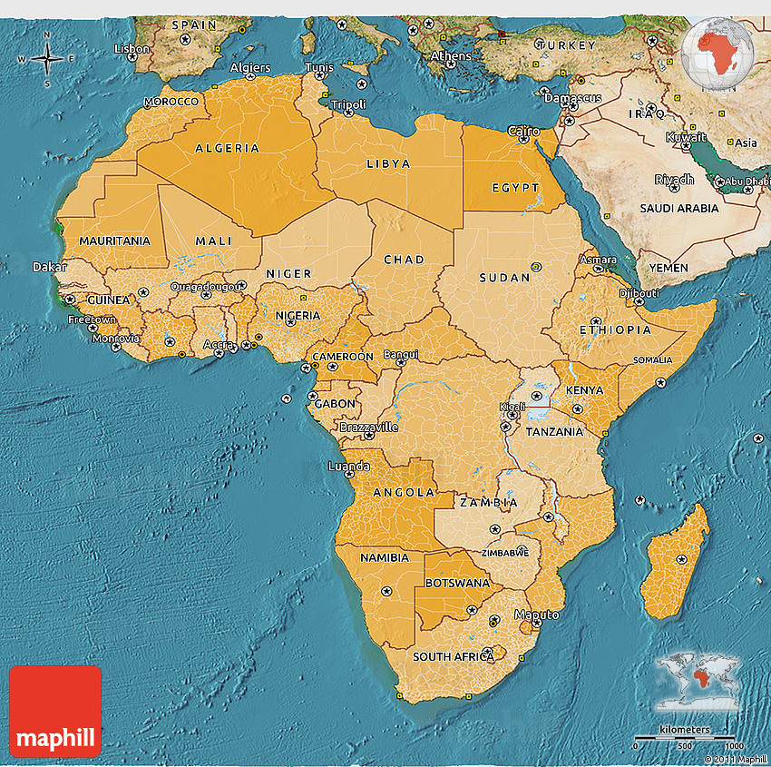 Map Of Africa 3d.3d Map Of Africa Political Shades 3d Map Of Africa Lighten Semi