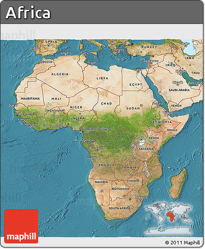 Free Satellite 3D Map of Africa