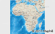 Shaded Relief 3D Map of Africa