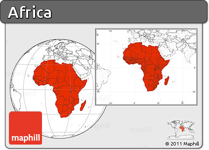 Blank Location Map of Africa