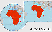 Gray Location Map of Africa
