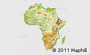 Physical Map of Africa, cropped outside