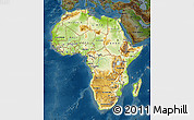 Physical Map of Africa, darken