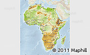 Physical Map of Africa, lighten