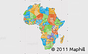Political Map of Africa, cropped outside