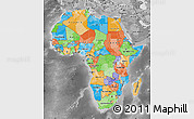 Political Map of Africa, desaturated