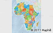 Political Map of Africa, lighten