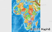 Political Map of Africa, physical outside