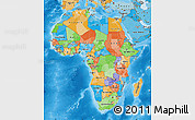 Political Map of Africa, political shades outside