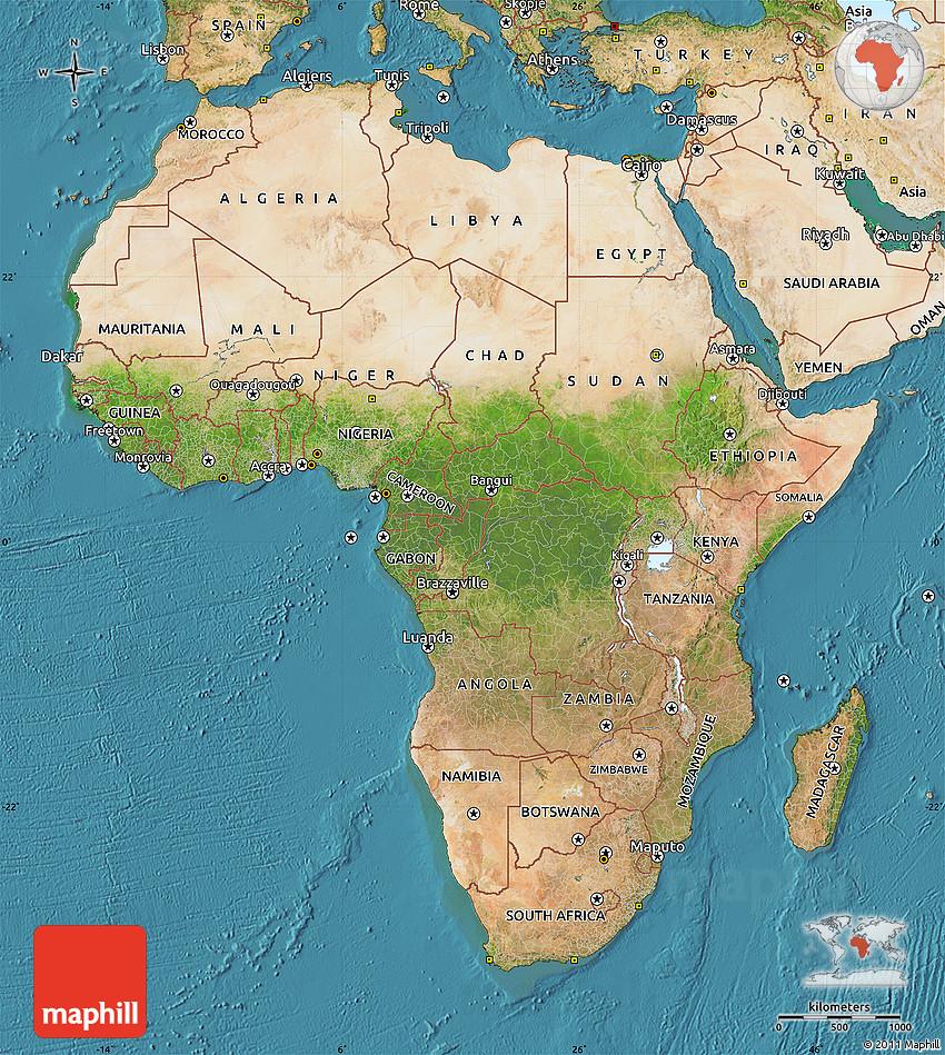 Satellite Map of Africa