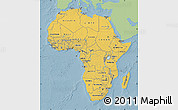 Savanna Style Map of Africa, single color outside