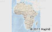 Shaded Relief Map of Africa, lighten