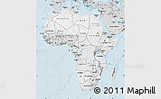 Silver Style Map of Africa