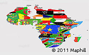 Flag Panoramic Map of Africa