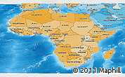 Political Shades Panoramic Map of Africa