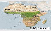 Satellite Panoramic Map of Africa, lighten