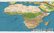 Satellite Panoramic Map of Africa, physical outside, satellite sea