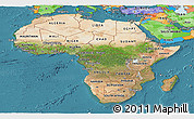 Satellite Panoramic Map of Africa, political outside, satellite sea