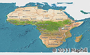 Satellite Panoramic Map of Africa, single color outside