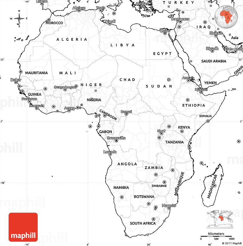 Blank Africa Map With Numbers | www.pixshark.com - Images ...