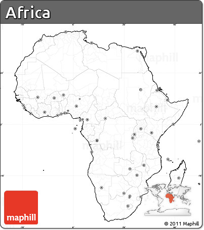 Map Of Africa No Labels.Free Blank Simple Map Of Africa Cropped Outside No Labels