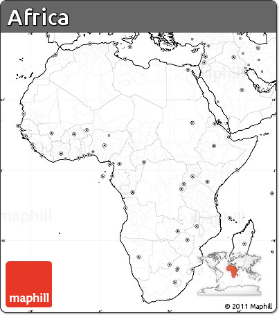 Map Of Africa No Labels Free Blank Simple Map of Africa, no labels