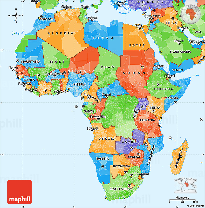 Political Simple Map Of Africa - Maps of africa