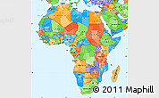 Political Simple Map of Africa