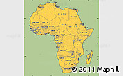 Savanna Style Simple Map of Africa, cropped outside