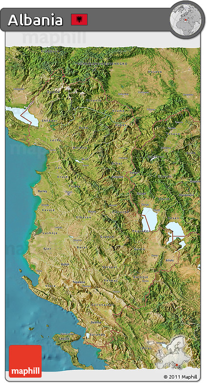 Free Satellite D Map Of Albania - Albania satellite map