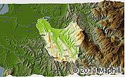 Physical 3D Map of Berat, darken